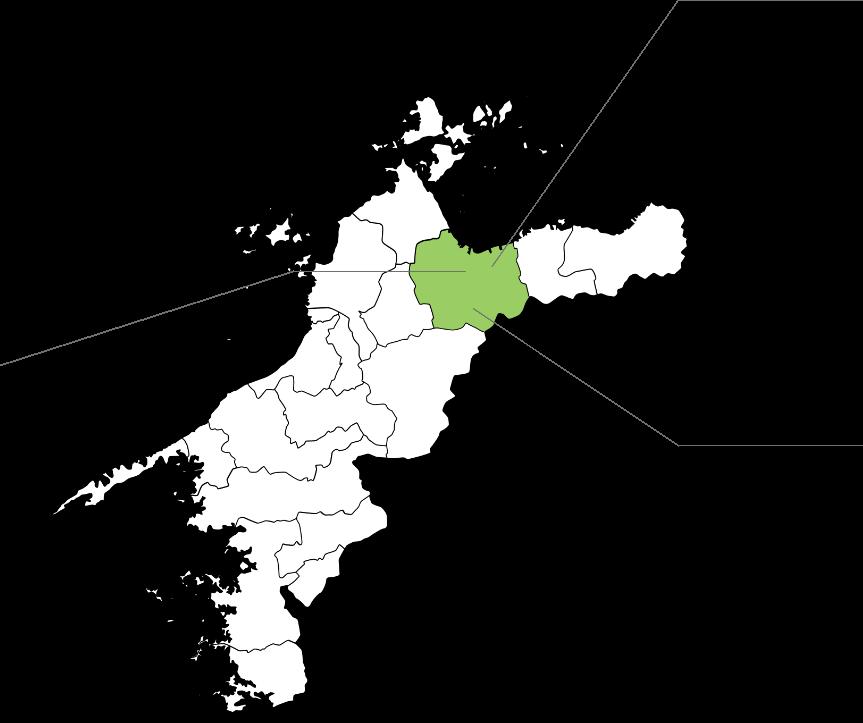 愛媛県西条市の地図